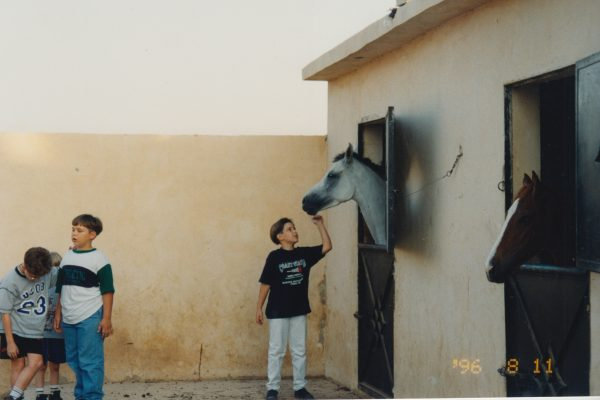 Muhanad with horse